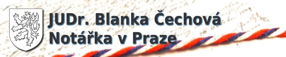 JUDr. Blanka Čechová - notářka v Praze